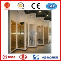 decorative colored etched stainless steel sheets