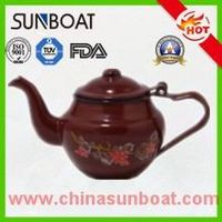 chinese flower painted enamel teapot