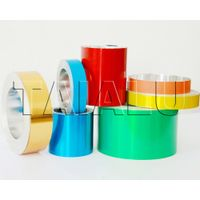 colored coated aluminum foil coil for pilfer proof cap pharmaceutical caps bottle cap