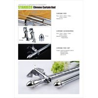 chrome curtain rod and accessories,chrome tube, pipes and supports thumbnail image