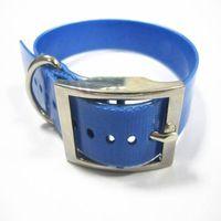 blue waterproof dog collar