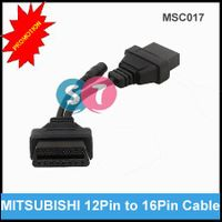 12 Pin to OBD OBDII 16 Pin Cable for Mitsubishi Diagnostic Adapter Cable Male to Female Extension Ca