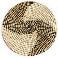 Decorative seagrass wall plate/wall basket hanging decoration thumbnail image