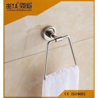 Wall mounted bathroom stainless steel round towel holder towel ring