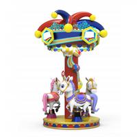 Clown shape roof funny music mini carousel horse ride thumbnail image