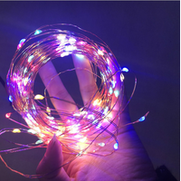 Eurocode plug-in copper lamp string DC head color lamp Wedding Decoration Christmas Room decoration thumbnail image