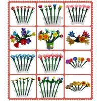 Custom made logo print flower shape pen