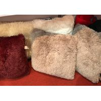 Fake fur long pile cushion