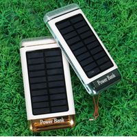 20000mah emergency rainbow led light solar charger for mobile phone thumbnail image