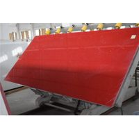 Sparkling Red Quartz Stone Solid Surface Panel for Countertop