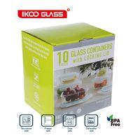 IKOO GLASS microwave safe bento lunch box