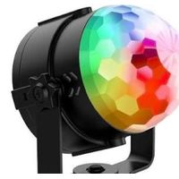 Sound Activated Disco Ball Lights [Free Wall Holder] 3 Modes - Portable Multi Color LED Party Lights