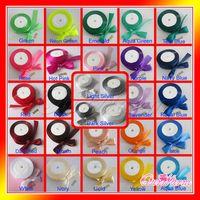 Satin Ribbon Craft Bow Wedding Party Decor Hot Colors U Pick thumbnail image