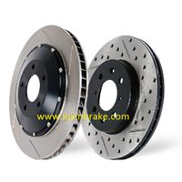 Drilled and Slotted brake disc, ISO/TS 16949 certified