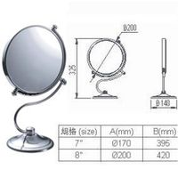 wall mount brass x 3 single side bath cosmetic mirror