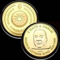Martin Luther King 24KT Gold Plated Memorial Coin 67