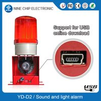 Red Flashing Warning Light Siren Alarm for House