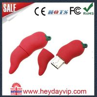 Customized PVC silicon food usb flash drive as promotional gift