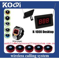 Wireless restaurant table numbers System K-1000+K-200C+D1