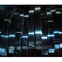 blue polished tempered and hardened carbon band spring steel strip thumbnail image