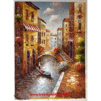 Canvas Oil painting 100%hand painter Venice thumbnail image