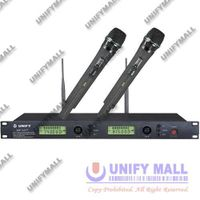 UNIFY JMW-MPU77 UHF Professional Dual-Channel PLL Wireless Karaoke Microphone