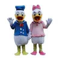 High quality adult size Donald Duck Mascot Costume sales Donald and Daisy Mascot Costume Free Shippi
