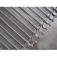 Spiral chain steel wire mesh belt for food quick freezing