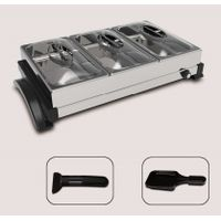 3 in1 Raclette grill BBQ grill with lid