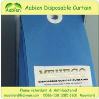 Disposable privacy curtain with fire resistant