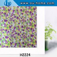 PVC decorative adhesive smart embossed window film for home