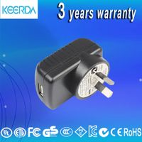 Hot quality usb 6w power adapter 5v1.2a universal charger DC out put type