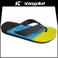 Fashion design custom men beach slipper rainbow flip flops wholesale cheap
