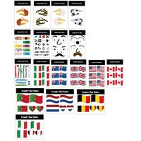 Custom made logo sticky tattoo flag tattoo for 2014 world cup