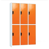 Good Quality and bulk price factory storage 2 tiers 6 door locker for dormitory