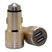 Dual USB Car Charger Adapter with Aluminum Alloy Body Part