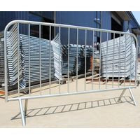 Hot dipped galvanized portable easy to use road safety barrier with connecting hooks & lugs thumbnail image