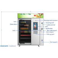 Foxconn Auto Bottled Water Beer Beverage Combo Cold Drink Snack Vending Machine