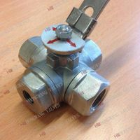 Stainless Steel Industrial Manual Four Way Female Thread Ball Valve thumbnail image