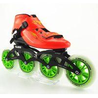 D-First Inline Speed Roller Skates Skating Wheels Yellow/Black 110mm/100mm/90mm Wear Resistant PU Ru thumbnail image