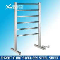 customised 304 mirror finished stainless steel display stand and shelf