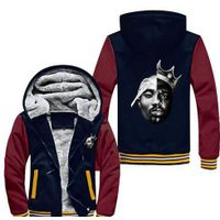 Notorious Big 2PAC Eazy Tupac Ready To Die Skateboard Thicken Fleece Zipper Jacket Hoodies Hoody Men