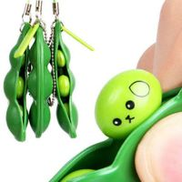 www.ottnovelty.com 900014 Squeeze-a-Bean Green Soybean Stress Relieving Keychain