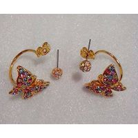 Fashion Jewelry Special Crystal Butterfly Earring