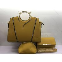 Latest design lady fashion handbag with 2wallets in a set