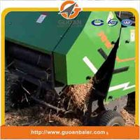 Self-tying mini round baler for Wheat straw