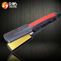 2015 hot magic lcd yellow ceramic coating ultrasonic cold hair straightener flat iron manufacturer i