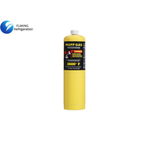 16oz 453.6g Cylinder Brazing Mapp Gas Hydrocarbons Mixture OEM with Liquid / Gas Form