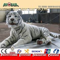 Latest technology real size mechanical animal mechanical tiger