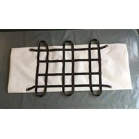 white pp non woven waterproof sealed funeral dead body bag with six handles